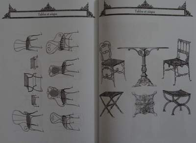 Catalog fonte de jardin antique garden cast wrought iron benches lanterns ebay - Table jardin vintage montpellier ...