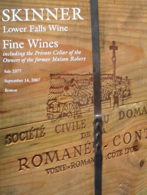 Auction Catalog - Fine Wines - September 14, 2007