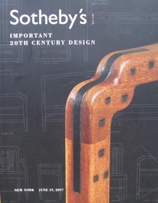 Sotheby's Auction Catalog - Important 20th Century Design