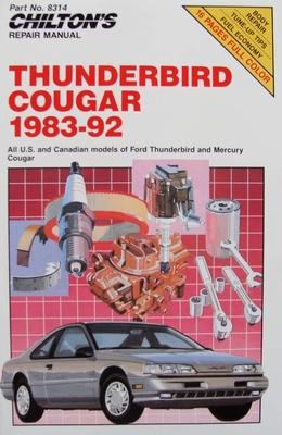 Chilton's Repair Manual - Thunderbird and Cougar 1983-92