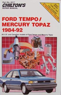 Chilton's Manual - Ford Tempo and Mercury Topaz, 1984-92