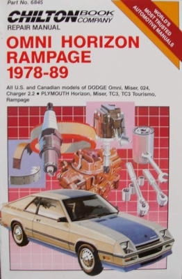 Chilton's Repair Manual - Omni Horizon Rampage 1978-89