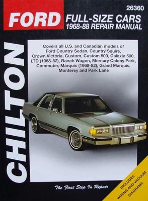 Chilton's Repair Manual - Ford Full-Size Cars, 1968-88