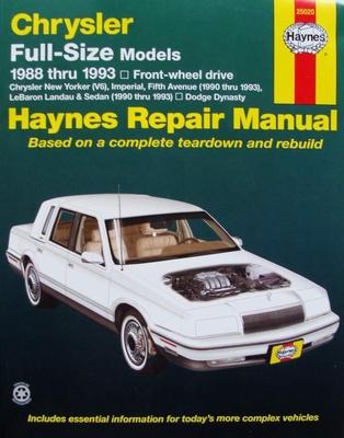Haynes Repair Manual : Chrysler Full-Size Model 1988 - 1993