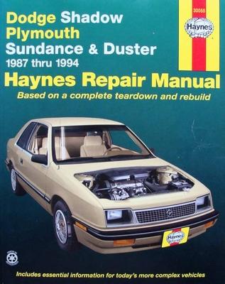Haynes Repair Manual : Shadow, Sundance & Duster 1987-94