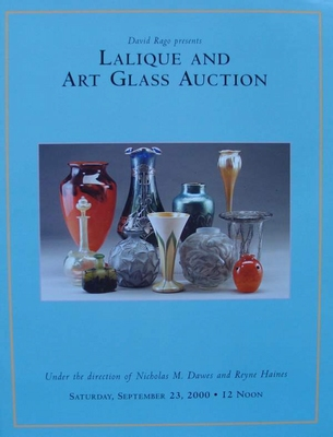 Auction Catalog - Lalique & Art Glass - September 23, 2000
