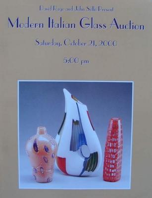 Auction Catalog - Modern Italian Glass - October 21, 2000