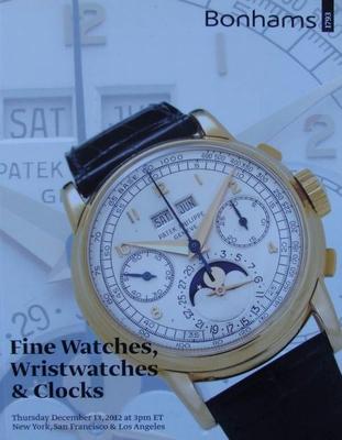 Auction Catalog - Fine Watches, Wristwatches & Clocks