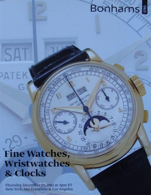 Auction Catalog - Fine Watches, Wristwatches & Clocks