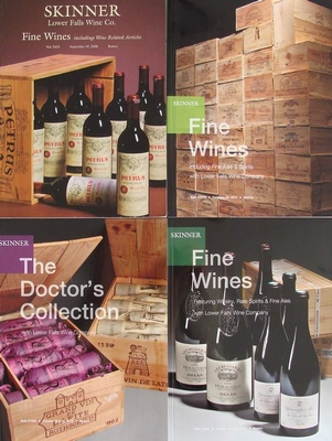 4 Skinner Auction Catalogs - Fine Wines