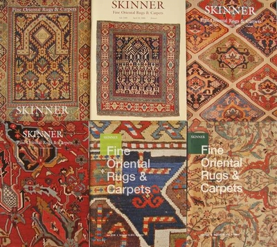 6 Skinner Auction Catalogs - Fine Oriental Rugs & Carpets
