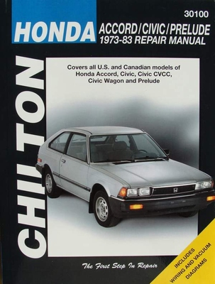 Chilton's Repair Manual - Honda Accord - Civic - Prelude