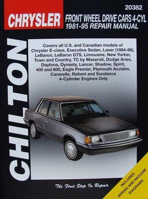 Manual - Chrysler Front Wheel Drive Cars 4 Cylinder 1981-95