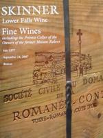 Auction Catalog - Fine Wines - September 14, 2007