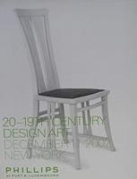 Phillips Auction Catalog - 20-19th Century Design Art