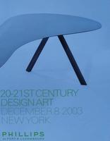 Phillips Auction Catalog - 20-21th Century Design Art