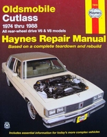Haynes Repair Manual : Oldsmobile Cutlass, 1974-1988