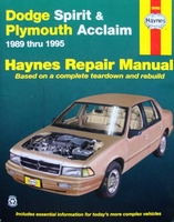 Haynes Repair Manual Dodge Spirit & Plymouth Acclaim 1989-95