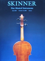 Skinner Auction Catalog - Fine Musical Instruments - 2002
