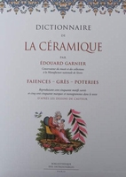 Dictionnaire de la céramique - faïences-grès-poteries