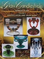 Glass Candlesticks of the depression era - Price Guide