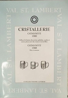 Val Saint Lambert catalogue 1900 services,gobelet,carafes,..