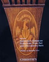 Christie's : American Furniture, Folk Art & Decorative Arts