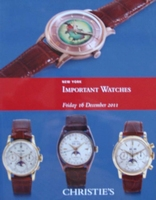 Christie's Auction Catalog : Important Watches 16-12-2011