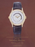 Christie's Auction Catalog : Important Watches 13-06-2012