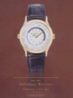 Christie's Auction Catalog : Important Watches 13-06-2012